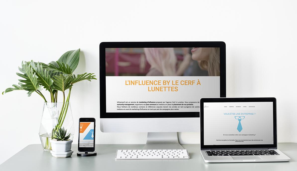 Mockup site linfluencerf